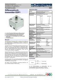 Differenzdruck-Transmitter EDP1