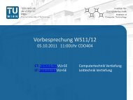 Vorbesprechung WS1112_all.pdf - Institut für Computertechnik