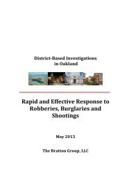 The Bratton Group Report - City of Oakland