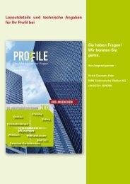 Textmengen und Layoutdetails (pdf) - PROFILE - Die Arbeitgeber ...