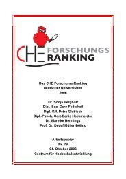 CHE Forschungsranking 2006 - Centrum für ...