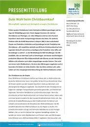 Gute Wahl beim Christbaumkauf - Bund Naturschutz in Bayern eV