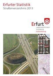 Strassenverzeichnis 2013 - Erfurt