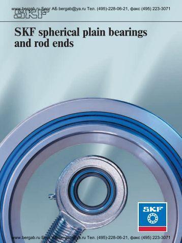 SKF spherical plain bearings and rod ends