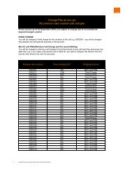 Orange Pay as you go 09 premium rate number call charges