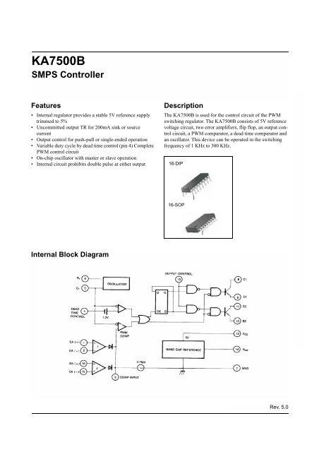 KA7500B SMPS Controller - SP-Elektroniikka