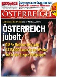 9,8 % Reichweite (LpA) 1.713.000 Leser in der Woche ... - Oe24.at