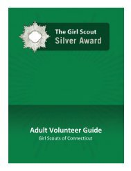 Silver Award Guide for Adults - Girl Scouts of Connecticut