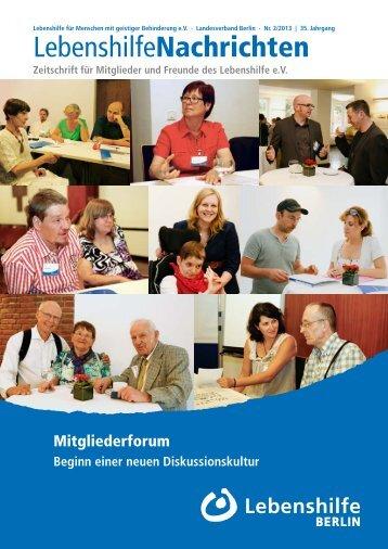 Ausgabe 2/2013 - Lebenshilfe Berlin