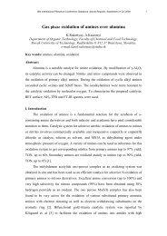 gas phase oxidation of amines over alumina rakottyay, k.; kaszonyi, a