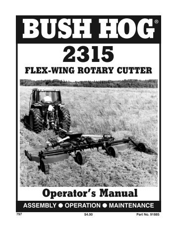 Bush Hog Gt42 manual