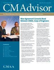 New Agreement Cements Bond Between CMAA, Corps of Engineers