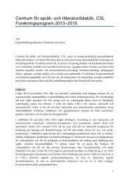 Forskningsprogram CSL_2013-2015 - Karlstads universitet
