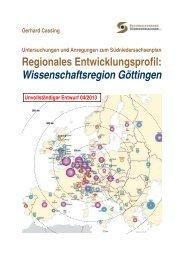 Regionales Entwicklungsprofil: Wissenschaftsregion Göttingen