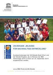 in Erfurt ausgezeichneten Projekte - Bildung für nachhaltige ...