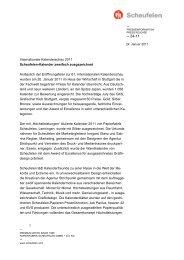 Internationale Kalenderschau 2011 Scheufelen-Kalender zweifach ...
