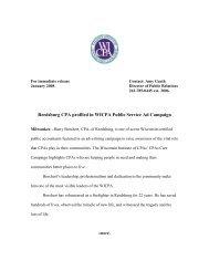 Reedsburg CPA profiled in WICPA Public Service Ad Campaign