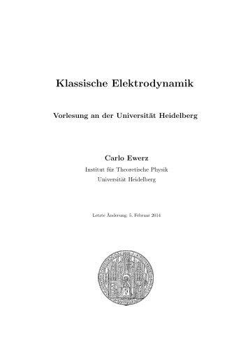 Klassische Elektrodynamik - Institut für Theoretische Physik der ...