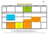 Kursprogramm Sommer 2011 - CITY MED. München Gmbh