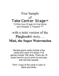 Free Sample of Take Center Stage™ with a mini version - Playbooks ...