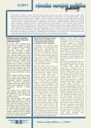 Spravodaj rómskej verejnej politiky 3/2011 - Ústredie práce ...