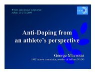 Anti-Doping from an athlete's perspective - World Anti-Doping Agency