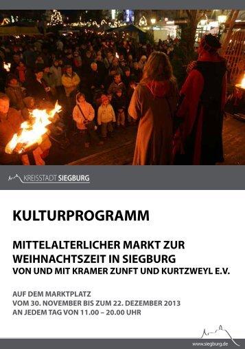 Kulturprogramm zum Mittelalterlichen Markt 2013 (pdf/ 256 kb)