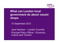 What can London local government do about vacant shops