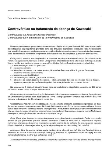 Controvérsias no tratamento da doença de Kawasaki