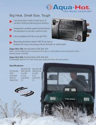 UTV/RTV Products - Aqua-Hot