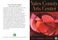 ACYC Annual Report for 2011 - Yates County Arts Council