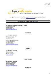 Office du Tourisme en Alsace .pdf - Réseau Information Jeunesse d ...