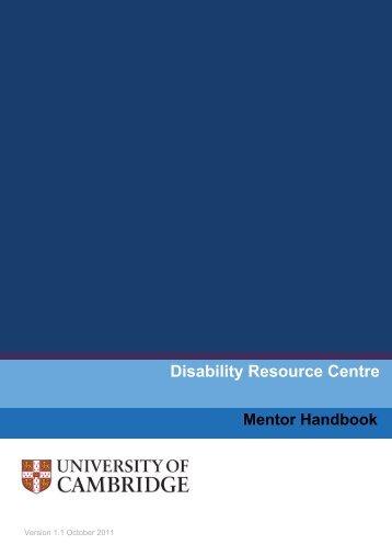 Mentor Handbook Version 1.1 - the University Offices - University of ...