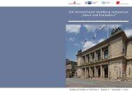 "7th International Hamburg Symposium ""Sport and Economics"""