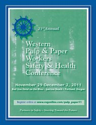 Western Pulp & Paper Workers Safety & Health Conference