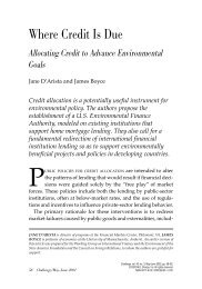 Where Credit Is Due - Political Economy Research Institute ...