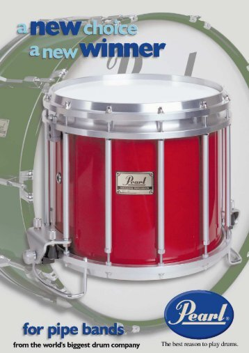 The Pearl pipe band snare drum - MultiMania