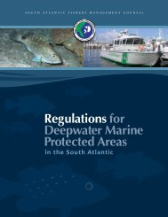 Regulations for Deepwater Marine Protected Areas - SAFMC.net