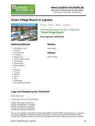 Ferienwohnung für 7 Personen in Lignano - Outdoor-Touristik