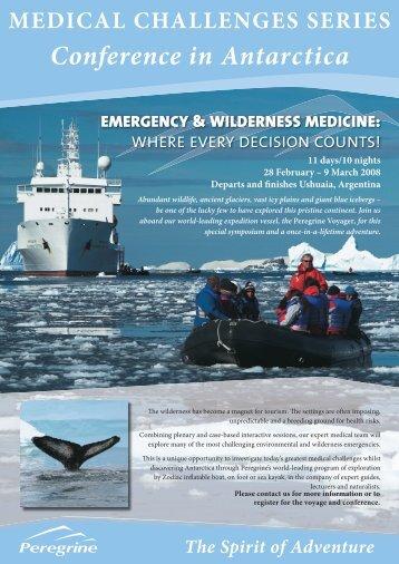 Conference in Antarctica - Peregrine Adventures