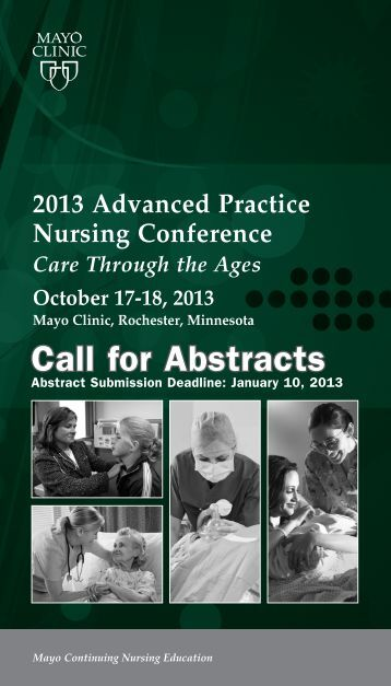 2013 Advanced Practice Nursing Conference - Mayo Clinic