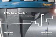 LNG Tank Radar, Raptor System - Emerson Process Management
