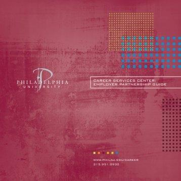 employer partnership guide - Philadelphia University
