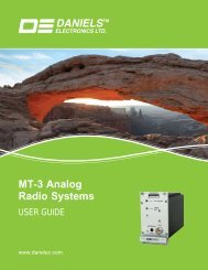 UG-002-3-0-0 MT-3 User Guide.indd - Daniels Electronics
