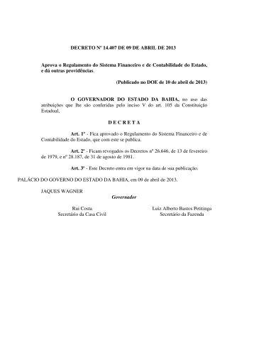 14.407 - Secretaria da Fazenda do Estado da Bahia