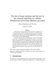 The law of large numbers and the law of the iterated logarithm for ...