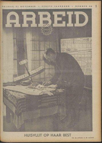 Arbeid (1941) nr. 46 - Vakbeweging in de oorlog