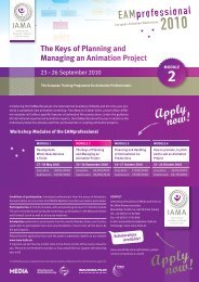 MODULE 2 The Keys of Planning and Managing an Animation Project