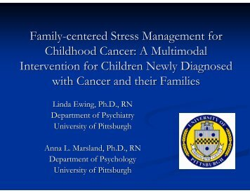 Family-centered Stress Management for Childhood Cancer
