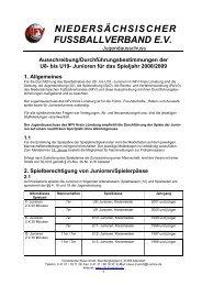 Niedersächsischer Fußballverband e V  - Kreis     - SVE